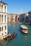Grand Canal Venetië Stock Afbeelding