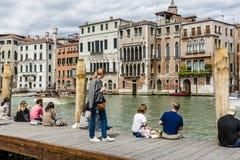 Grand Canal in Venetië, Italië Stock Afbeeldingen