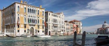 Grand Canal Venetië Panarama Stock Fotografie