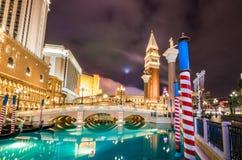 Grand Canal of Venetian Hotel Casino at night - Las Vegas, USA Royalty Free Stock Photo