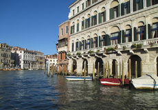 The Grand Canal of Venic and the Architectures. Italy Stock Photos