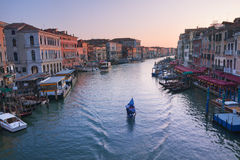 Grand Canal in Venice Stock Image