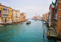 Grand canal, Venice. Panoramic view of the Grand canal, Venice, Italy Royalty Free Stock Photos