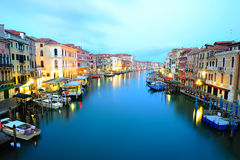Grand Canal in Venice. View to Grand Canal from Rialto Bridge in Venice Royalty Free Stock Photography