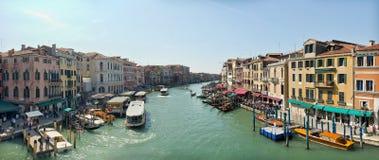 Grand Canal in Venice. Beautiful water street - Grand Canal in Venice, Italy Stock Photo