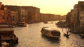 Grand Canal in Venice stock video
