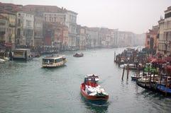 Grand Canal Venice. Boats sailing on the Grand Canal, Venice, Veneto region, Italy Stock Photo
