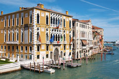 Grand Canal at Venice. Bank of Grand Canal at Venice Royalty Free Stock Image