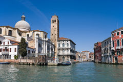 Grand canal. Venice. Journey on the Grand canal. Venice, Italy Royalty Free Stock Photo