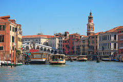 Grand canal. Venice. Journey on the Grand canal. Venice, Italy Stock Photos