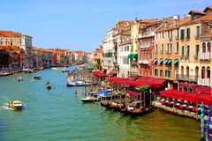 Grand Canal of Venice. Beautiful Grand Canal of Venice, Italy from Rialto bridge Stock Image