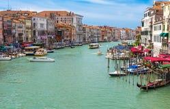 Grand Canal of Venice from Bridge Rialto, Venice Royalty Free Stock Photo