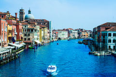 Grand canal of Venice city. Italy Royalty Free Stock Photography