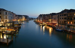 Grand Canal. The Grand Canal in Venice in the evening Stock Images