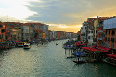 Grand Canal Venice. Image of the Grand canal in Venice just before sunset Stock Images