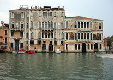 Grand canal in venice ital, and actient building Stock Image