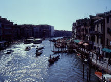 Grand Canal, Venice, Italy. Picture of Grand Canal in Venice from Rialto Bridge Royalty Free Stock Image