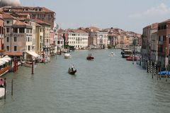 Grand Canal in Venice, Italy Royalty Free Stock Photos