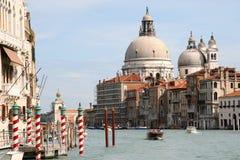 The Grand Canal, Venice, Italy. The Grand Canal, Venice. View towards Isola di Santa Maria Della Salute Stock Photo