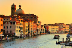 Grand Canal in Venice, Italy. Beautiful water street - Grand Canal in Venice, Italy Stock Images