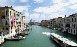 The Grand Canal in Venice, Italy. Sightseeing boat on the Grand Canal in Venice Royalty Free Stock Photography