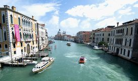 The Grand Canal in Venice, Italy. Sightseeing boat on the Grand Canal in Venice Stock Photos