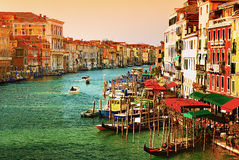 Grand Canal in Venice, Italy. Beautiful water street - Grand Canal in Venice, Italy Stock Photo
