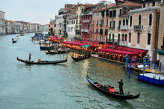 The Grand Canal in Venice  Italy Stock Image