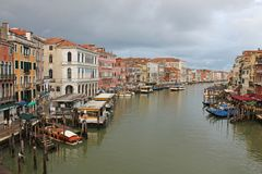 The Grand canal in Venice Italy royalty free stock image