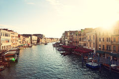 Grand Canal, Venice, Italy - Canal Grande Royalty Free Stock Photo