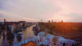 Grand canal, Venice, Italy stock video footage