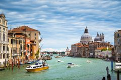 Grand Canal in Venice. Italy, Europe Royalty Free Stock Photo