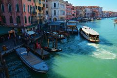 Grand Canal, Venice, Italy, Europe Stock Images