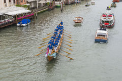 Grand Canal in Venice Italy. Grand canal in Venice,, Italy , Europe . View from the Bridge Stock Photo