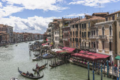 Grand Canal in Venice , Italy Royalty Free Stock Photos