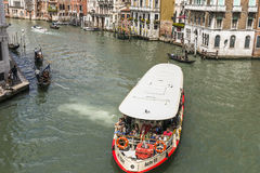 Grand Canal in Venice , Italy Royalty Free Stock Photo