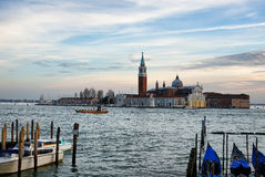 The Grand Canal in Venice Italy during evening time Royalty Free Stock Images