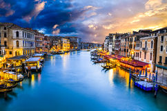 Grand Canal, Venice in Italy Stock Images