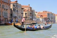 Grand Canal in Venice, Italy, gondola boat stock photography