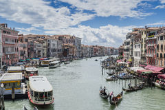 Grand Canal in Venice Italy Stock Photo