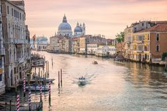 Grand Canal, Venice, Italy. Grand Canal at sunrise, Venice, Italy Royalty Free Stock Photos