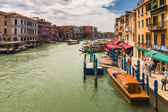 Grand Canal in Venice Italy Royalty Free Stock Photos