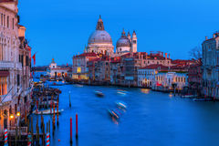 Grand Canal in Venice, Italy, at night Stock Photography