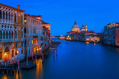 Grand Canal in Venice, Italy, at night Stock Image