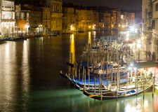 Grand Canal in Venice. Italy night scene Royalty Free Stock Photo