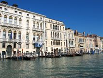 Grand Canal in Venice, Italy. Palaces on the Grand Canal in Venice, Italy Royalty Free Stock Photography