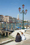 Grand Canal Venice Italy Quiet Morning View Royalty Free Stock Image