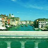 Grand Canal in Venice, Italy, with a retro effect Royalty Free Stock Images