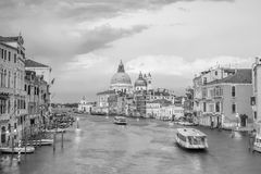 Grand Canal in Venice, Italy with Santa Maria della Salute Basil Stock Images