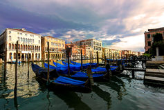 Grand Canal, Venice, Italy. Venice Grand Canal before a storm Royalty Free Stock Image